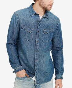 Denim & Supply Ralph Lauren Men's Denim Western Sport Shirt
