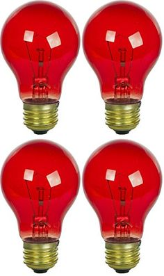 4 Pack 25 Watt Colored Transparent Red Incandescent Medium Base Party Light Bulb – Home & Living – Home Improvement Ideas and Inspiration