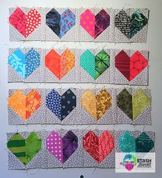 What's not to love about Valentine's Day? Just about everyone can get on board with loving and being loved. I designed an easy little heart quilt block and put it into a small quilt design just for the upcoming holiday. I've written the instructions and they're a gift. This is To You, with Love.  You can make all the hearts in just one color, or you can make them scrappy. You can do a scrappy background, or use just one fabric. So many options! You can see them on my Instagram...