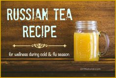 I make this Russian Tea recipe for use during cold and flu season, or at the first sign of illness. Nothing feels better on a sore throat than hot Russian tea! Read Recipe by gdff Cold Remedies, Herbal Remedies, Natural Remedies, Yummy Drinks, Healthy Drinks, Healthy Eating, Detox Drinks, Clean Eating, Healthy Recipes