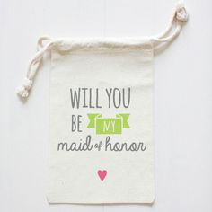 Will you be my Maid of Honor goodie bag - Maid of Honor gift on Etsy, $7.00