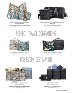 Taking a Trip? Need some great Travel bags or gym bags? Here you go!  www.shopwithmarci.com