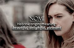 Sense8 character name meanings: Nomi.