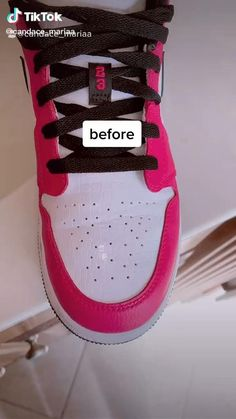 How To Clean White Sneakers, Clean Shoes, Jordan Shoes Girls, Girls Shoes, Sneakers Fashion, Fashion Shoes, Diy Clothes And Shoes, Diy Fashion Hacks, Swag Shoes