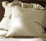 Linen Ruffle Edge Euro Sham - $49 - Pottery Barn