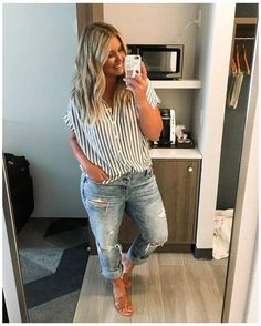 Summer Outfits For Moms, Casual Outfits For Moms, Curvy Girl Outfits, Simple Outfits, Plus Size Summer Outfit, Work Outfits, Casual Plus Size Outfits, Casual Mom Style, Plus Size Winter Outfits