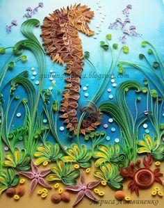 http://quillingskazka.blogspot.com/ Incredible seahorse art!
