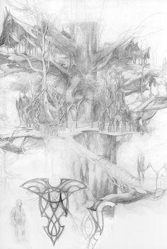 From Alan Lee's sketchbook. One of my favorite artists! -- Kre http://www.dana-mad.ru/gal/images/Alan%20Lee/The%20Lord%20of%20the%20Rings%20Sketchbook/alan_lee_the%20lord%20of%20the%20rings_sketchbook_07_lothlorien01.jpg