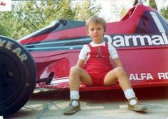 A 4 year-old child poses on Niki Lauda's Brabham at Monza in 1978. Years later, this same boy won the Monaco GP! Boy is Jarno Trulli