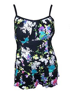 86e516eb4ee92 Topanga Women s Plus Size Blouson Swim Top - Day Dreaming ...
