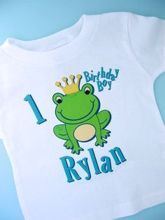 Frog Birthday Shirt Personalized Frog Prince by ThingsVerySpecial, $14.99