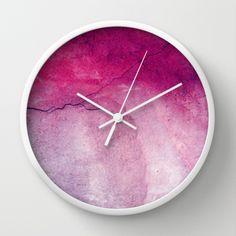 "Wanduhr in rosa // pink clock by Claudia Drossert - ""Das Schöne begegnet mir"" via dawanda.com"