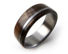 Ironwood Ring Hammered Titanium Ring Hammered by GrandJunctionGuy