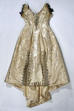Ball gown (image 1) | House of Worth | French | 1887-1890 | silk, glass, metallic thread | Metropolitan Museum of Art | Accession Number: 1978.469