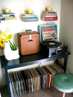 Book and Record Storage! By bradjreynolds http://www.flickr.com/photos/bradjreynolds/3533959097/in/faves-nerdnest/