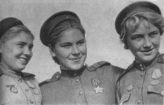 Snipers Faina Yakimova, Roza Shanina, Lydia Volodin.