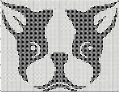 Looking for your next project? You're going to love Boston Terrier Cartoon Cross Stitch by designer Erica Kimberly.