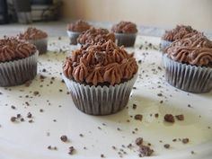 Chocolate Peanut Butter Mini Cupcakes :)<3  Perfect bite size mini cupcakes! Used the 2 cupcake recipe and it yielded 9 itty bitty cup cakes.