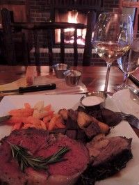 Dining at the Essex Inn (Photo Credit: Gladys Archer)