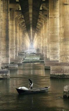 Bridge over the Ganges