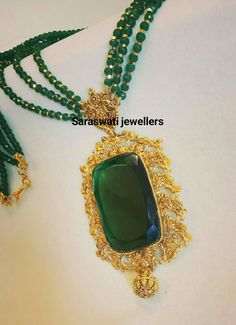 Beaded Jewelry Designs, Gold Jewellery Design, Bead Jewellery, Pendant Jewelry, Gold Jewelry, Gold Pendent, Best Jewelry Designers, Wedding Jewelry, Jewelry Collection