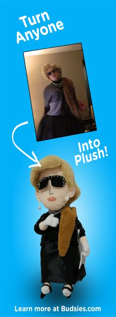 Check out this funny gag gift idea. Turn your coworkers, friends, or loved ones into hilarious custom plush dolls. Super simple to order - check out Budsies.com!