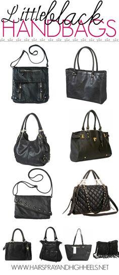 The Best Black Handbags via www.hairsprayandhighheels.com