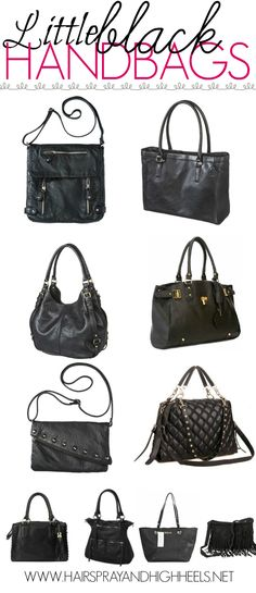 The Best Black Handbags via www.hairsprayandhighheels.com