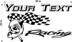 Racing Team Name Trailer Decal - Vinyl Sticker - Custom Text -Trailer Sticker - YT919