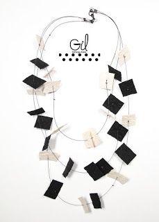 necklace necklaces paper confetti Handmade necklaces Handmade color Gil Italian shop collana  collane carta coriandoli collane fatte a mano fatto a mano colore gil bottega italia