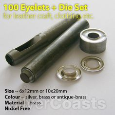 One of the must have tools for craft - leather work, sewing, paper craft- : http://r.ebay.com/HVkstu  for eyelets on fashion and setting tools
