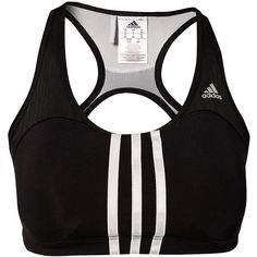Adidas Performance Cct 3s Pd Bra ($59) ❤ liked on Polyvore featuring activewear, sports bras, bras, tops, underwear, sports, sports fashion, womens-fashion, racerback sports bra and racer back sports bra