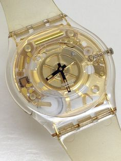 Swatch Watch Golden Jelly Skin SFK101 by ThatIsSoFunny on Etsy
