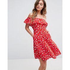Miss Selfridge Floral Bardot Skater Dress ( 55) ❤ liked on Polyvore  featuring dresses eb888604b