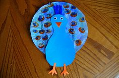 coffee filter peacock: could make with footprint and paper plate?