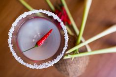 Feeling naughty? Stop by for a 'Ho'rny Devil....  Lemongrass vodka, a Devil's chilli and fresh coconut