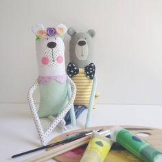 Frida Bear is ready to paint the day. Good morning dreamerz! #lemondreamz #handcrafted #toy #plustoys #softtoy #kidstoys #babytoys #etsytoys #etsybaby #egst #plustoy #softtoys #doll #dollmakersfeature #etsyelite #flowers #handmadetoy #supportgreekdesigners #shopsmall #supportlocal #madeinathens #etsyseller #etsyshop #etsytoy #etsykids #nurserydecor
