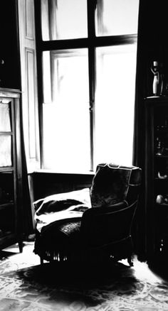 Robert Longo, Untitled (Chair and Window, Consulting Room, 1938), 2003, Charcoal on mounted paper, 96 x 53 inches