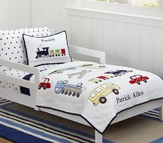 Backseat Driver Toddler Quilted Bedding #pbkids