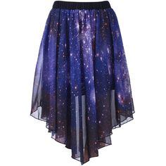 Starry Night Irregular Skirt ($35) via Polyvore