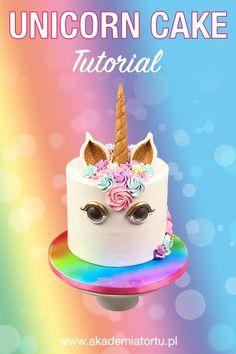 Cake Tutorial, Diy And Crafts, Unicorn, Birthday Cake, Desserts, Food, Tailgate Desserts, Deserts, Birthday Cakes