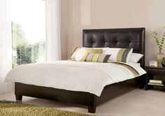 Kaydian Design Walkworth 6FT Superking Ottoman Bed - Brown Leather
