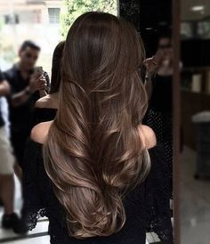 Hairstyle fashion girls we love to wearing this season 2019 00075 Litledress - Hair Design Brown Hair Balayage, Hair Highlights, Light Brown Hair, Dark Hair, Brunnete Hair Color, Blonde Hair Goals, Long Brunette Hair, Gorgeous Hair, Beauty Photography
