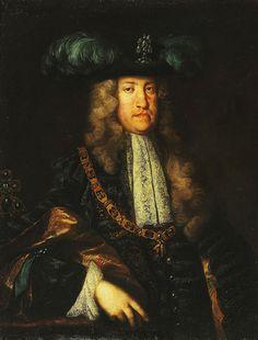 Carlos Francisco de Habsburgo y Noeburgo (1685-1740), Imperador del Sacro Imperio Roman-Germánico como Carlos VI (1711-1740), rey de Hungria como Carlos III (1711-1740), rey de Bohemia como Carlos II (1711-1740). Martin van Meytens (attrib.), 18th century.