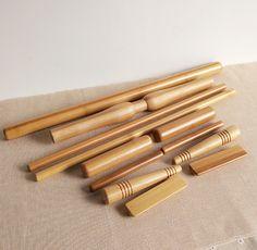 12pcs/set 100% Bamboo Body Massager Pole Massage Stick Water-proof Wooden Craft