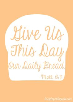 Give Us This Day Free Printable