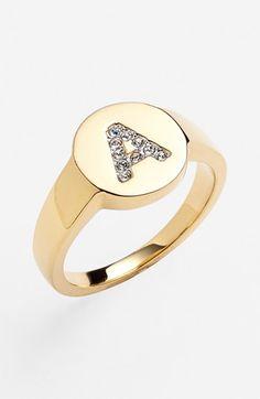 Nadri Pavé Initial Ring
