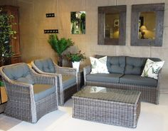 Indoors or out. Synthetic wicker is utterly gorgeous