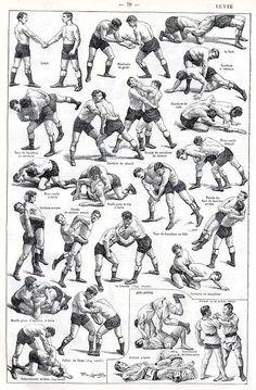 This is how pro-wrestling started.     El arte de la Lucha Libre (Grabado, principios s. XX, autor desconocido)