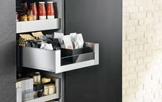 LEGRABOX from @blum_inc is a sleek new drawer system available in two finishes and a wide selection of heights and lengths making it ideal for kitchen bathroom retail and furniture applications. #legrabox #blum #hardware #drawerhardware #kitchenstorage #kitchendesign #retaildesign #contemporarydesign #drawers